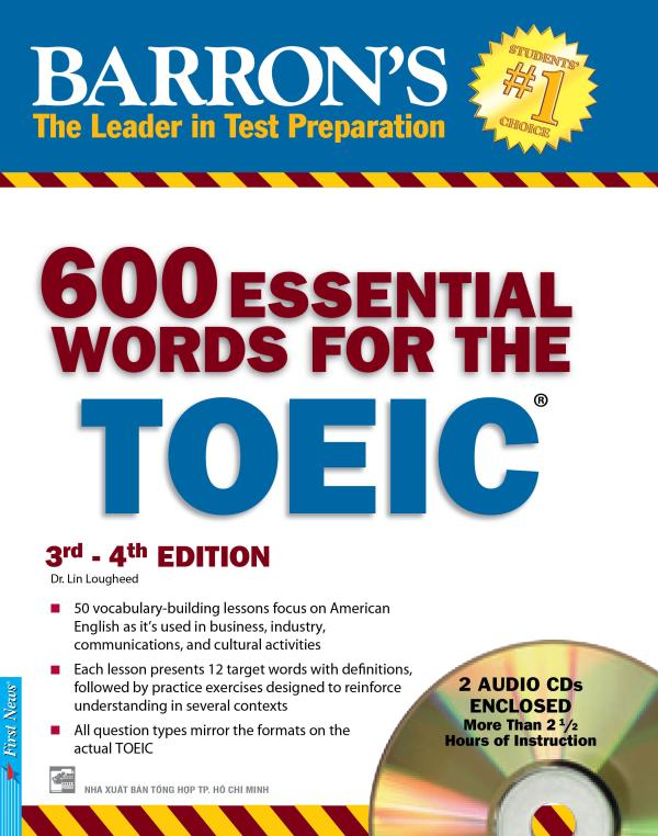 600 ESSENTIAL WORDS FOR THE TOEIC 3rd- 4th EDITION