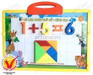 Bảng nam châm Antona - Bé làm quen với chữ số - hình học 179C