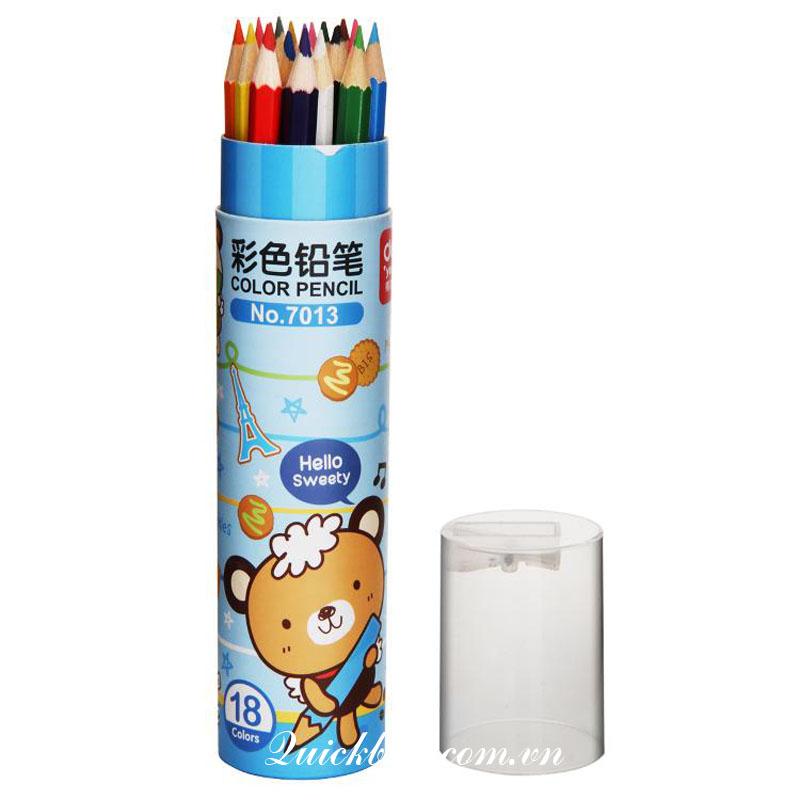 Bút chì 18 màu Deli - 7013