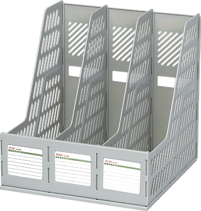 Giá (File) tài liệu 3 ngăn đứng nhựa cứng Deli 9833