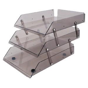 Khay nhựa trong 3 tầng Deli 9203