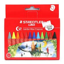 Sáp màu Staedtler Luna Jumbo Wax Crayons 2210 LC12 (Hộp 12 màu)