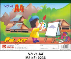Vở vẽ A4 0236